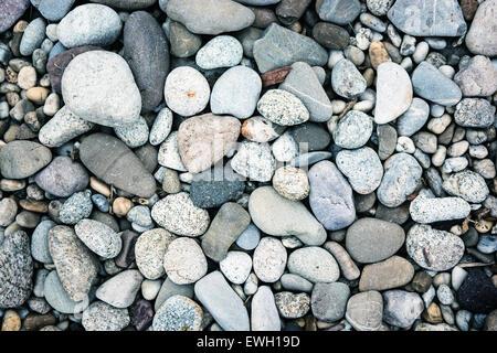 Hintergrund der glatten blauen Steinen. Getönten Effekt. - Stockfoto