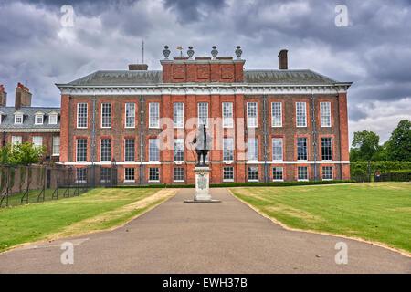 Kensington Palace ist eine königliche Residenz inmitten der Kensington Gardens, Royal Borough of Kensington und Chelsea in London