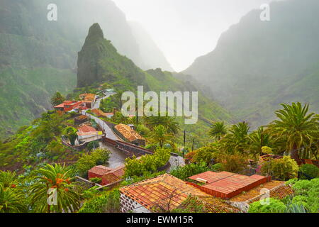 Dorf Masca, Teneriffa, Kanarische Inseln, Spanien - Stockfoto