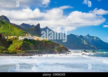 Almáciga, Taganana Küste, Teneriffa, Kanarische Inseln, Spanien - Stockfoto