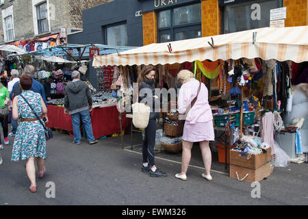 Portobello Road Market North Kensington West London England - Stockfoto