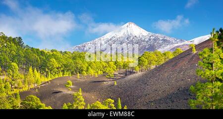 Teneriffa - Blick auf Teide Vulkan Mount, Kanarische Inseln, Spanien - Stockfoto