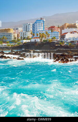 Puerto De La Cruz, Teneriffa, Kanarische Inseln, Spanien - Stockfoto