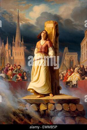 Jeanne d ' Arcs Tod auf dem Scheiterhaufen von Hermann Stilke - Stockfoto
