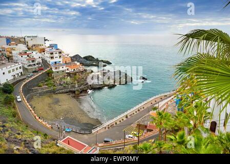 Puerto de Santiago Beach, Teneriffa, Kanarische Inseln, Spanien - Stockfoto