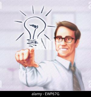 Geschäftsmann Strategie für zukünftige Ziele festlegen Stockfoto