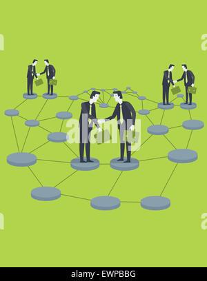 Anschauliches Bild von Geschäftsleuten, die globalen Partnern - Stockfoto