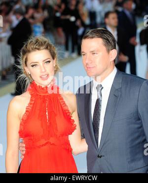 London, UK. 30. Juni 2015. Amber Heard: Channing Tatum, die Teilnahme an der Europäischen Premiere von MAGIC MIKE - Stockfoto