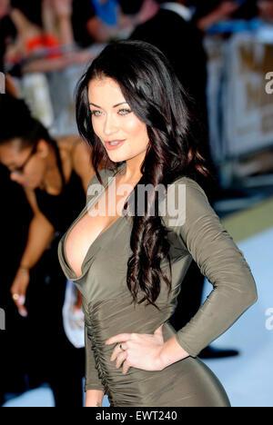London, UK. 30. Juni 2015. Jess Impiazzi Teilnahme an der Europäischen Premiere von MAGIC MIKE XXL am Londoner West - Stockfoto