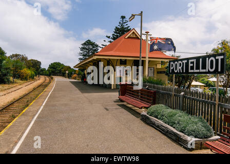 Bahnhof Port Elliot in South Australia - Stockfoto