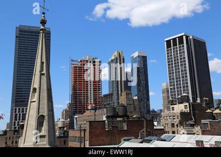 Midtown Manhattan Skyline, New York, NY, USA - Stockfoto