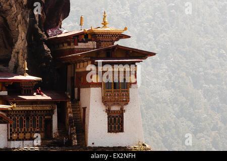 Taktsang Kloster (Tiger es Nest) - Bhutan Stockfoto