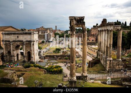 Das Forum Romanum in Rom - Stockfoto
