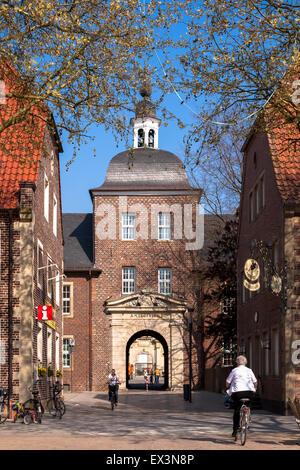 DEU, Deutschland, Nordrhein-Westfalen, Münsterland, Region, Ahaus, quadratisch, Oldenkott Blick auf die Burg.  DEU, - Stockfoto