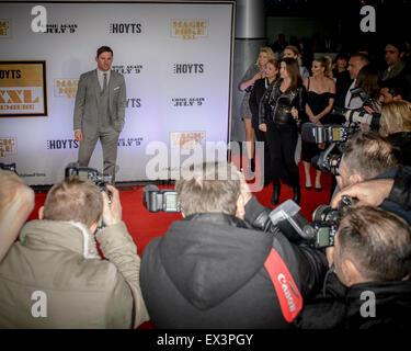 """Sydney, Australien - 6. Juli 2015: Channing Tatum auf dem roten Teppich bei der """"Magic Mike XXL"""" australische Premiere - Stockfoto"""