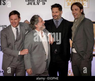 Sydney, Australien - 6. Juli 2015: Channing Tatum, Greg Jacobs, Joe Manganiello und Reid Carolin auf dem roten Teppich - Stockfoto