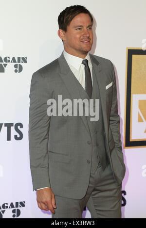 Sydney, Australien. 6. Juli 2015. Channing Tatum (Magic Mike) kommt auf dem roten Teppich bei der Qantas Credit - Stockfoto