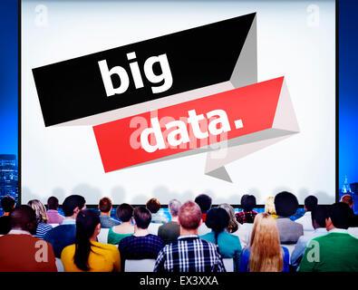 Big Data Netzwerkspeicher CD-Player Computing Internet-Konzept - Stockfoto