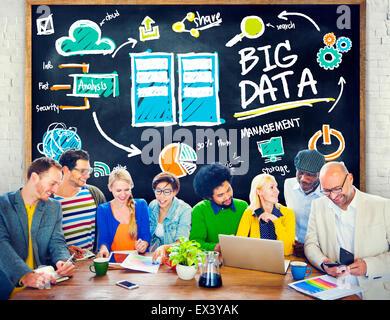 Vielfalt Menschen Big Data Teamwork Diskussion Lernkonzept - Stockfoto