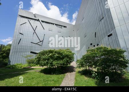 Moderne Fassade des jüdischen Museums in Kreuzberg Berlin Deutschland - Stockfoto