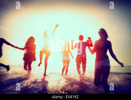 Freundschaft Freedom Beach Sommerurlaub Konzept - Stockfoto