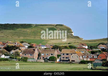 Häuser unter die Fairways Seaford Leiter Golf Course und Club East Sussex UK - Stockfoto