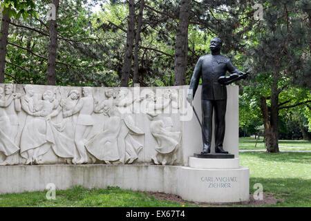 Ziehrerdenkmal, Denkmal an den österreichischen Komponisten Carl Michael Ziehrer im Wiener Prater, Wien, Österreich - Stockfoto