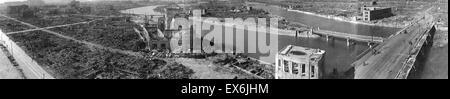 Dem zweiten Weltkrieg, nach der Explosion der Atombombe im August 1945 Hiroshima, Japan - Stockfoto