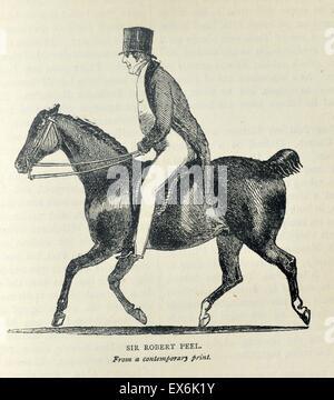 Sir Robert Peel, 2. Baronet (5. Februar 1788 – 2. Juli 1850) war ein britischer konservativer Staatsmann, der zweimal - Stockfoto