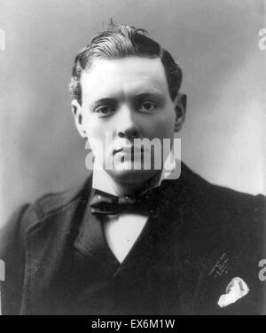 Sir Winston Leonard Spencer-Churchill, 1874 – 24. Januar 1965. Britischer Politiker, der Premierminister des Vereinigten - Stockfoto