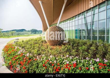 Ecorium und die Holzkugel - Stockfoto