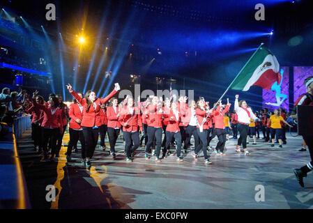 Toronto, Ontario, Kanada. 10. Juli 2015. Team Mexiko kommt bei Pan American Games in Rogers Centre Credit: Igor - Stockfoto