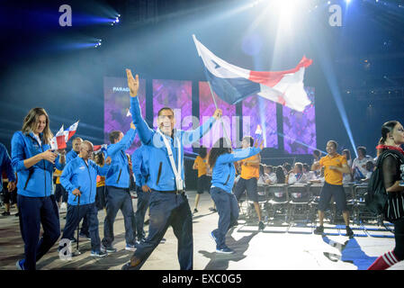 Toronto, Ontario, Kanada. 10. Juli 2015. Team-Panama kommt bei Pan American Games in Rogers Centre Credit: Igor - Stockfoto