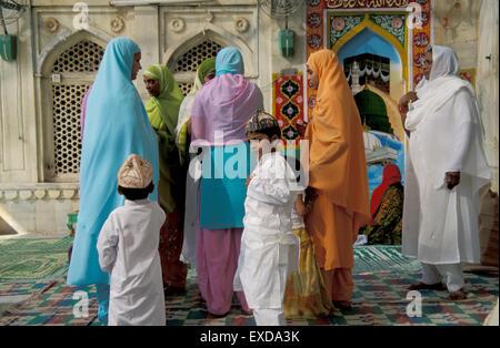 Eid el Fitr Dargah Ajmer Indien - Stockfoto
