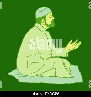 Doodles Mann zu beten - Stockfoto