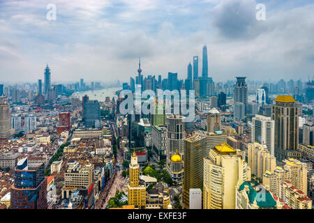 Aerial Skyline von Shanghai, China. Stockfoto