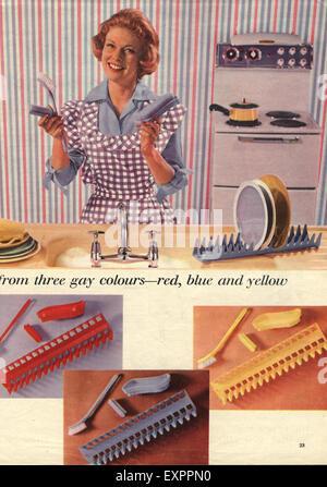 1960er Jahre UK waschen Up Magazin Anzeige (Detail) - Stockfoto