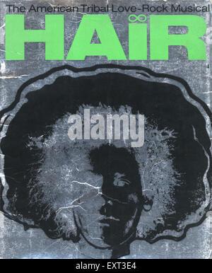 1960er Jahre UK Haare Poster - Stockfoto