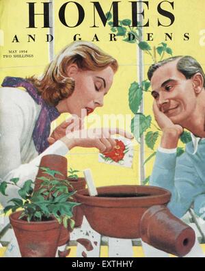 1950er jahre britischen haushalten und g rten magazine cover stockfoto bild 98002631 alamy. Black Bedroom Furniture Sets. Home Design Ideas