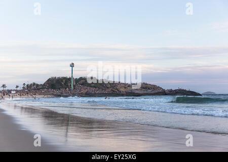 Blick auf den Strand von Ipanema, Rio De Janeiro, Brasilien - Stockfoto