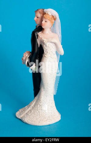 Braut und Bräutigam Kuchen topper - Stockfoto