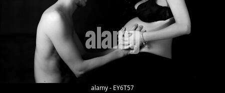 die süßen Erwartung einer schwangeren - Stockfoto