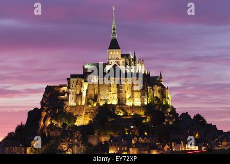 Mont Saint Michel, Departement Manche, Basse Normandie, Frankreich - Stockfoto