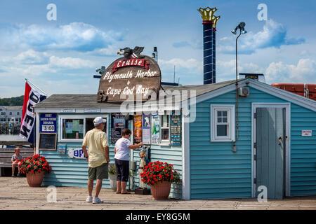 Plymouth Harbor Cruise Office - Stockfoto
