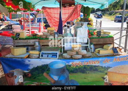 Französischer Käse Marktstand - Stockfoto