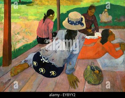 Paul Gauguin (1848-1903). Französischer Maler. Die Siesta. 1892-94. Öl auf Leinwand. Metropolitan Museum of Art. - Stockfoto