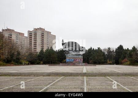 Berlin, Deutschland, Wohnsiedlung im Ernst-Thälmann-Park - Stockfoto