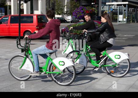Citybike, Liverpools Zyklus Vermietung Schema, hat ein spezielles Angebot für Studenten zu helfen, in der Stadt - Stockfoto