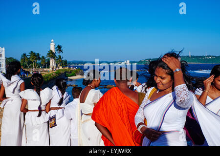 Sri Lanka, Southern Province, South Coast beach, Galle, Altstadt, holländischen Fort, UNESCO-Weltkulturerbe, Leuchtturm - Stockfoto