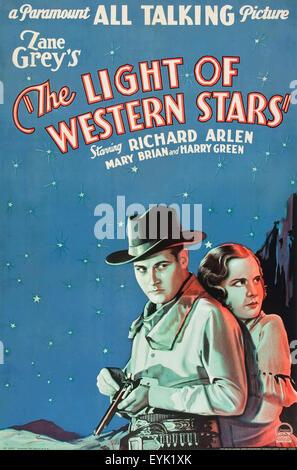 Das Licht der westlichen Stars - 1930 - Filmplakat - Stockfoto